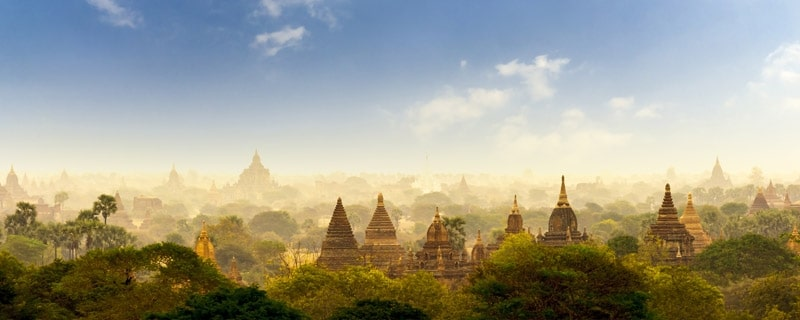 bagan view from heigh
