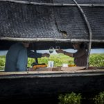 exotic lunch on boat myanmar