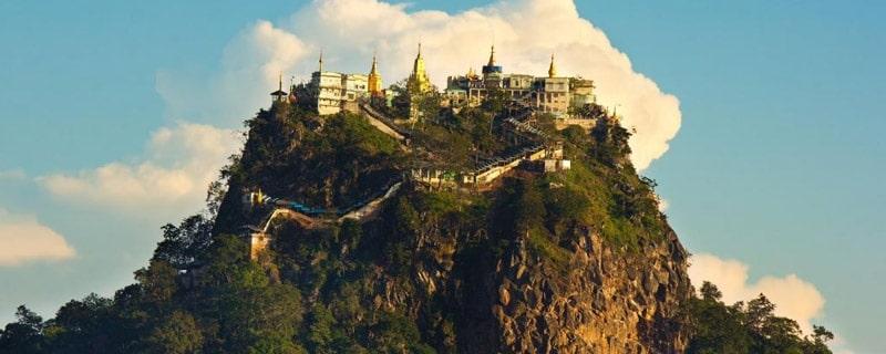 Popa Pagoda view