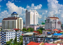 Yangon city view